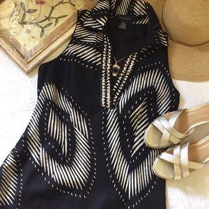 Spense Beaded V-Neck Dress